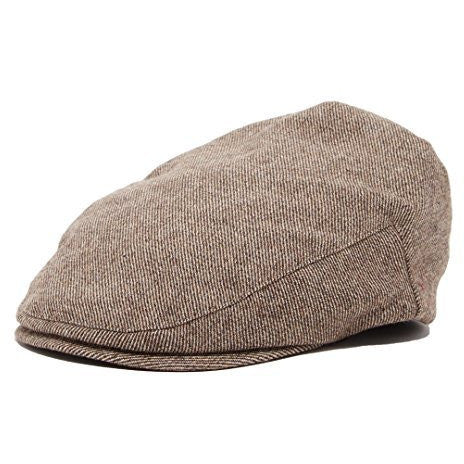 Grey Plaid Boy's Tweed Page Newsboy Driver Cap
