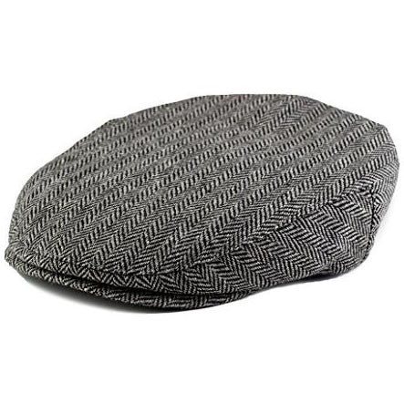 Grey and Black Boy's Tweed Page Newsboy Driver Cap