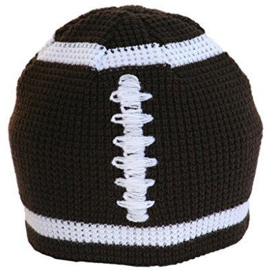 Boys Brown Football Knitted Beanie