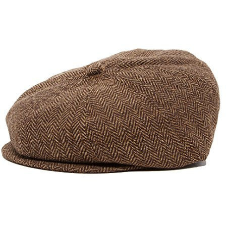 Brown And Tan Boy's Ring Bearer Pageboy Flat Ivy Newsboy Golf Cap