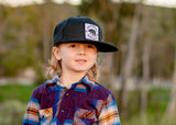 Knuckleheads California Republic Black Baby Boy Infant Trucker Hat Snap Back Sun Mesh Baseball Cap