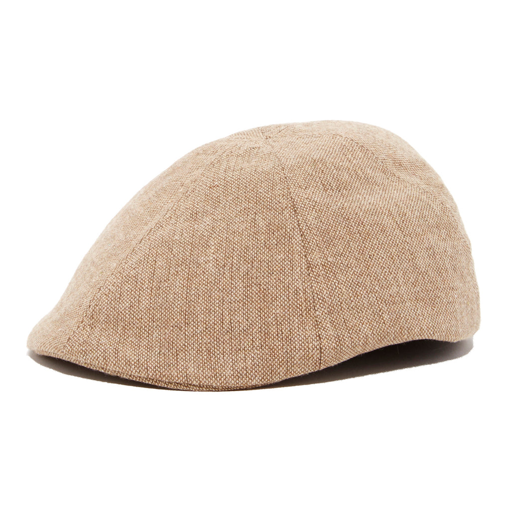 Boy's Tan Herringbone Ivy Page Boy Ring Bearer Cap
