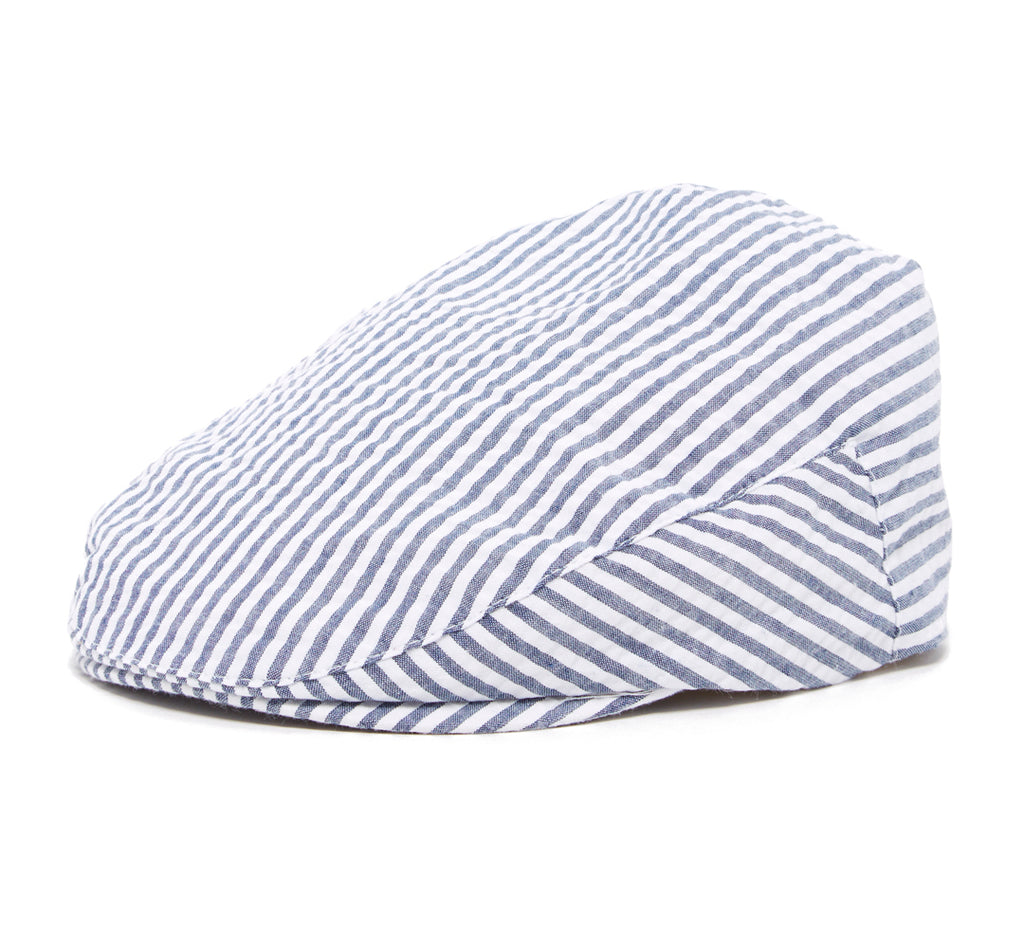 Boy's Navy and White Stripe Driver Cap