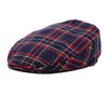 Navy Red Plaid Driver Cap