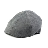 Grey Herringbone Ivy Cap