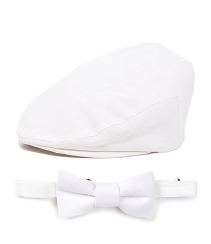 Baby Blue Linen Kids Driver Hat and Bow Tie Set