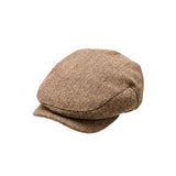 Brown and tan herringbone driver cap Born to Love