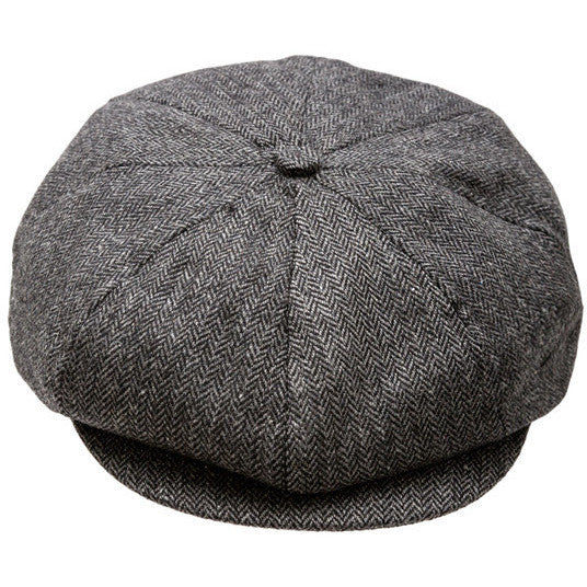 Black and Gray Baby Newsboy Cap ( 8 panels)