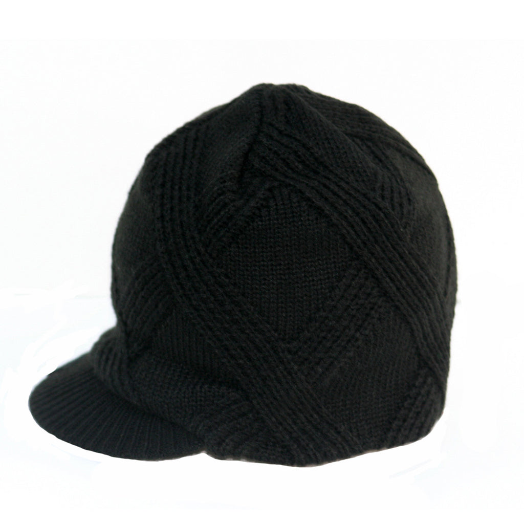 8e08591fa29 Black Baby Beanie Hat with Stripes Detail – Born To Love Clothing