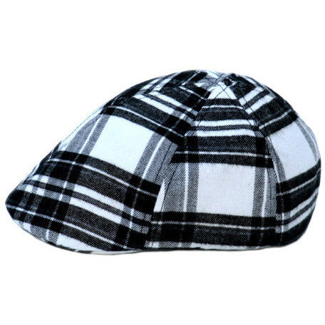 Black & White Plaid Ivy Cap