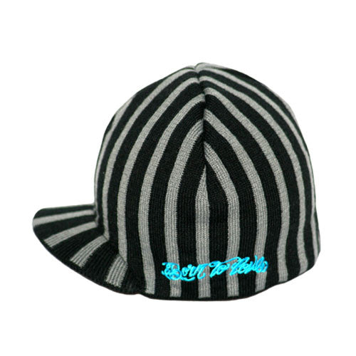 Black and Gray Stripe Beanie