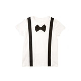 Black Suspenders Black Bowtie Tshirt