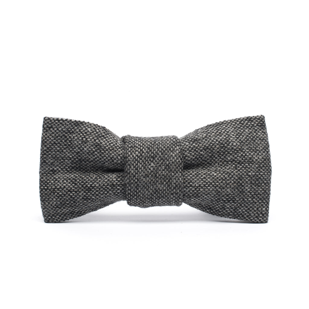 Grey Herringbone 2 Piece Bow Tie and Newsboy Hat Ring Bearer Special Occasion