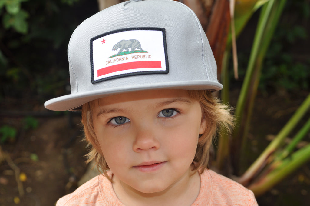 Knuckleheads Cali Rep Grey Baby Boy Infant Trucker Hat Snap Back Sun Mesh Baseball Cap