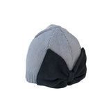 Gray Baby Girl Beanie Hat with Bow