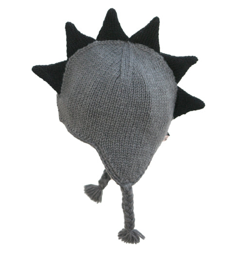 Born To Love Boy's  Gray Mohawk Hat With Black Spikes