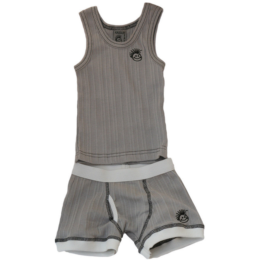 Knuckleheads - Skivvies Baby Underwear Set Light Grey