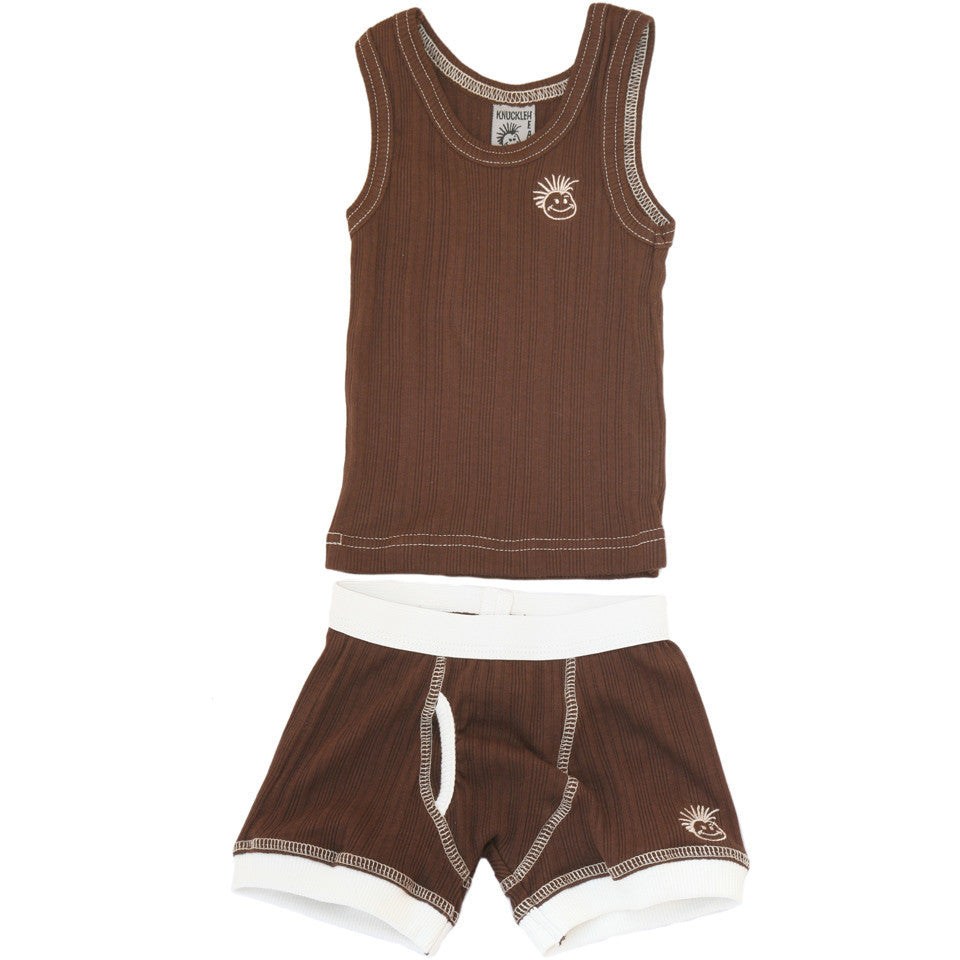 Knuckleheads - Skivvies Baby Underwear Set Brown