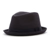 Knuckleheads Black Fedora with Black Stripe