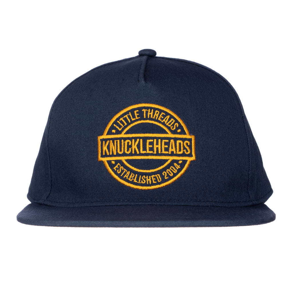 One Day Navy Knuckleheads Baby Boy Infant Trucker Hat Sun Mesh Baseball Cap