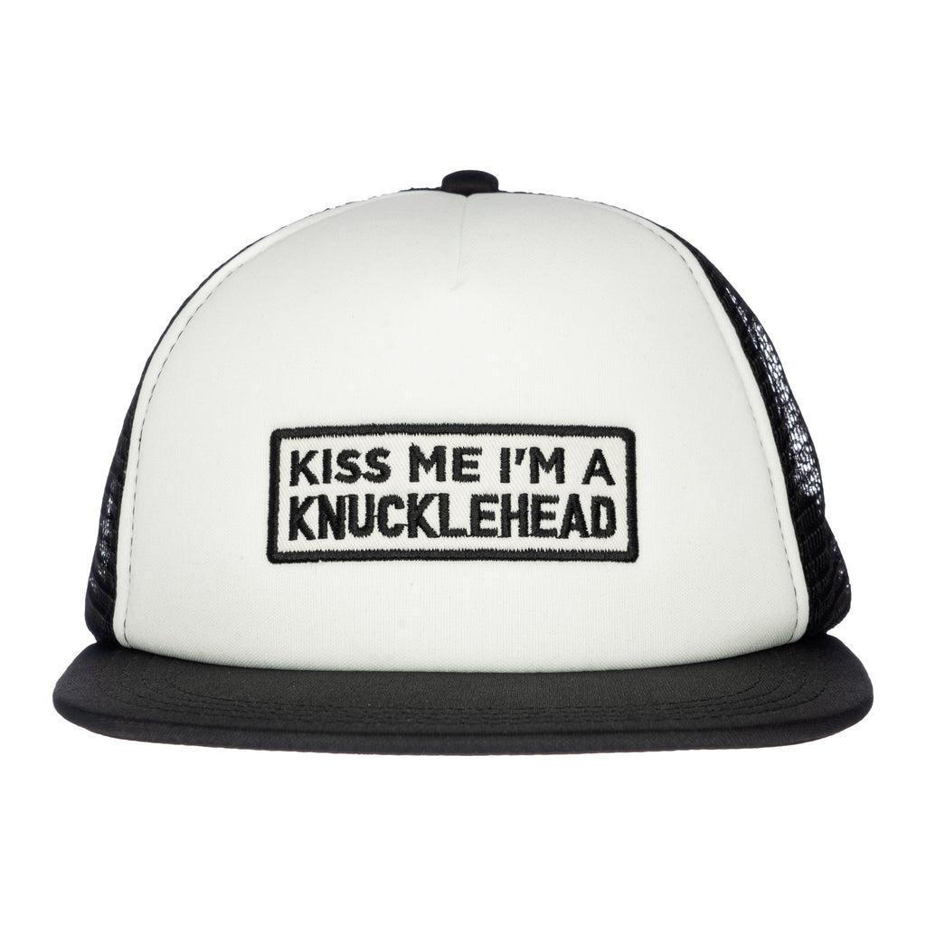 Kiss Me Knuckleheads Baby Boy Infant Trucker Hat Sun Mesh Baseball Cap
