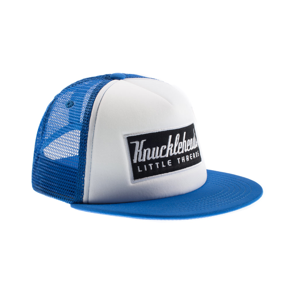 Blue Knuckleheads Patch Trucker Hat