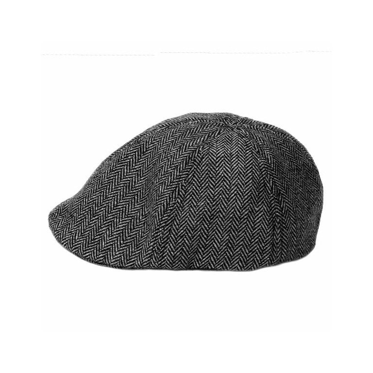 Black & Gray Herringbone Ivy Cap