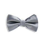 Solid Grey Baby Kids Bow Tie