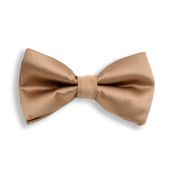 Solid Tan Baby Kids Bow Tie
