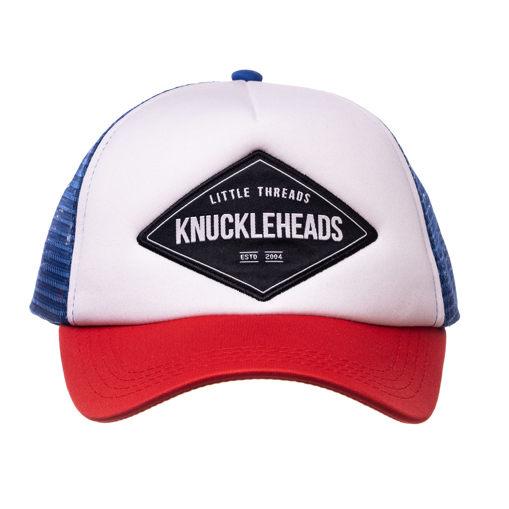 Knuckleheads Carter Baby Boy Infant Trucker Hat Snap Back Sun Mesh Baseball Cap