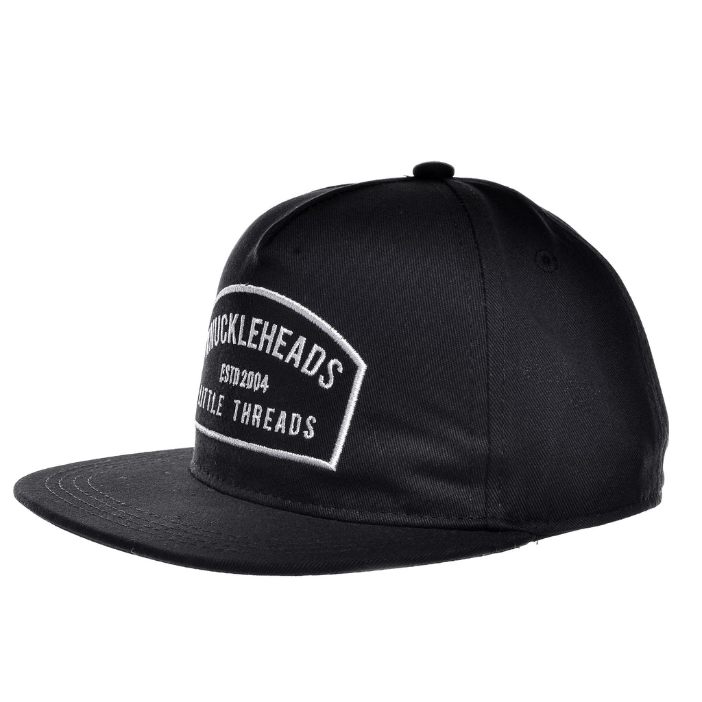 Black Knuckleheads Patch Trucker Hat Round