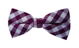 Purple Checkered Bow Tie