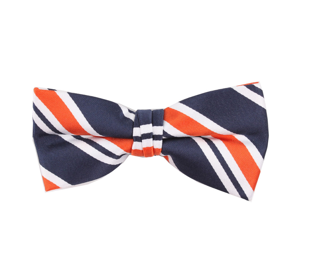 Multicolored Striped Bow Tie