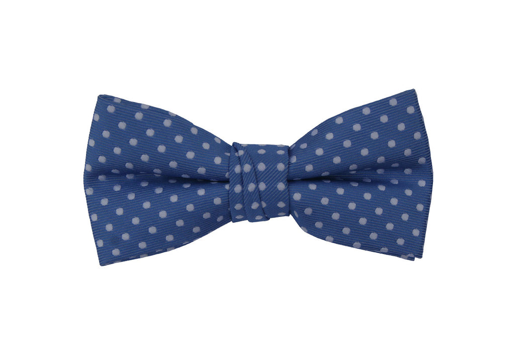 Blue Polka Dotted Birthday Bow Tie