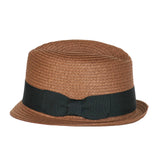 Born to Love Dark Straw Fedora with Black Band