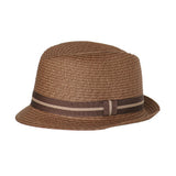 Born to Love Dark Straw Fedora with Brown Band Detail