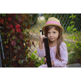 Born To Love Straw Fedora with Pink Band