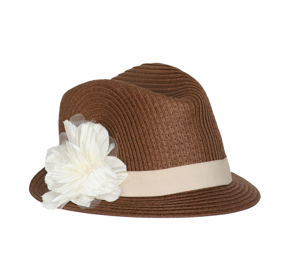 6099e2b5 Born to Love Girl Straw Fedora Hat with Flower – Born To Love Clothing