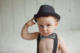 Black Fedora  Hat with Black Band