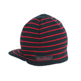 Black and Red Stripe Beanie