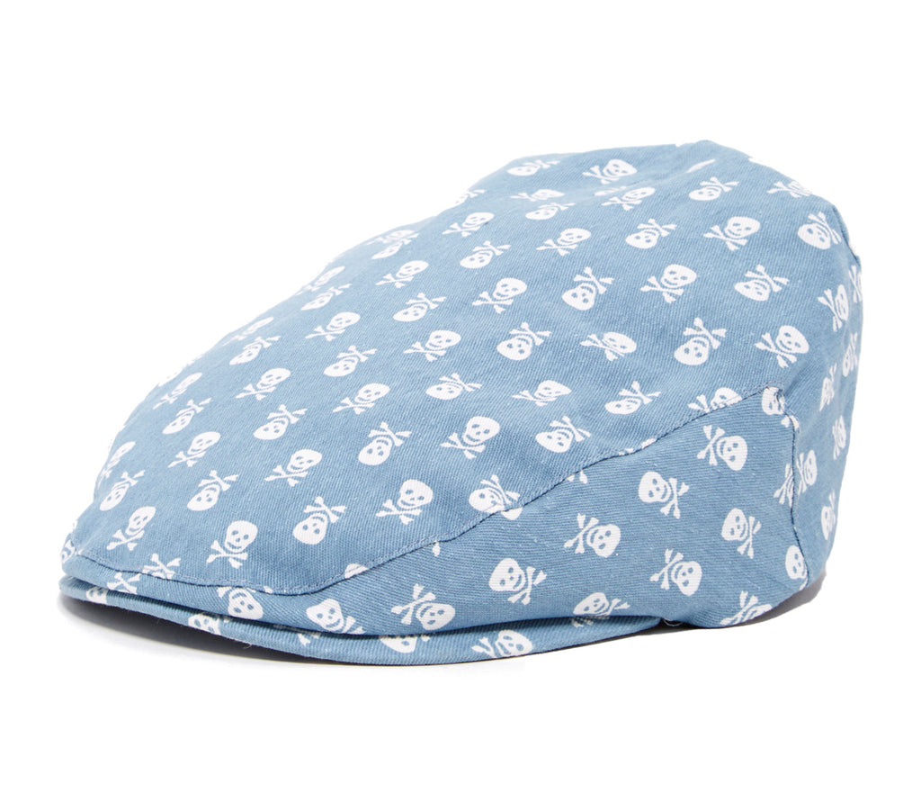 Kids Blue Skulls Design Driver Cap