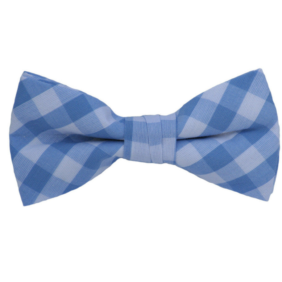 Blue and White Patterned Bow Tie Bow Tie