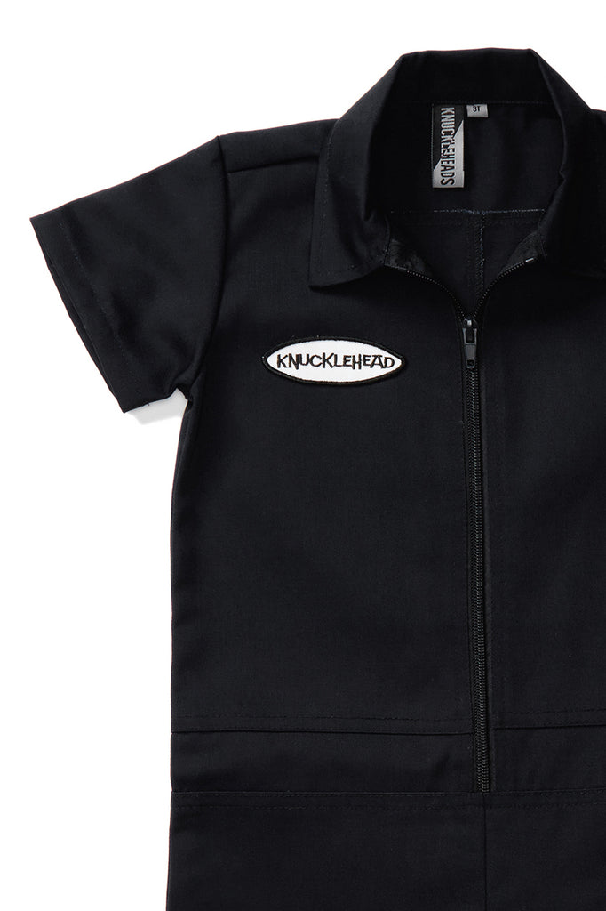 Knuckleheads Black Grease Monkey Coverall For Children