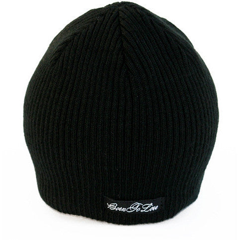 Black Beanie with No Visor And Tag
