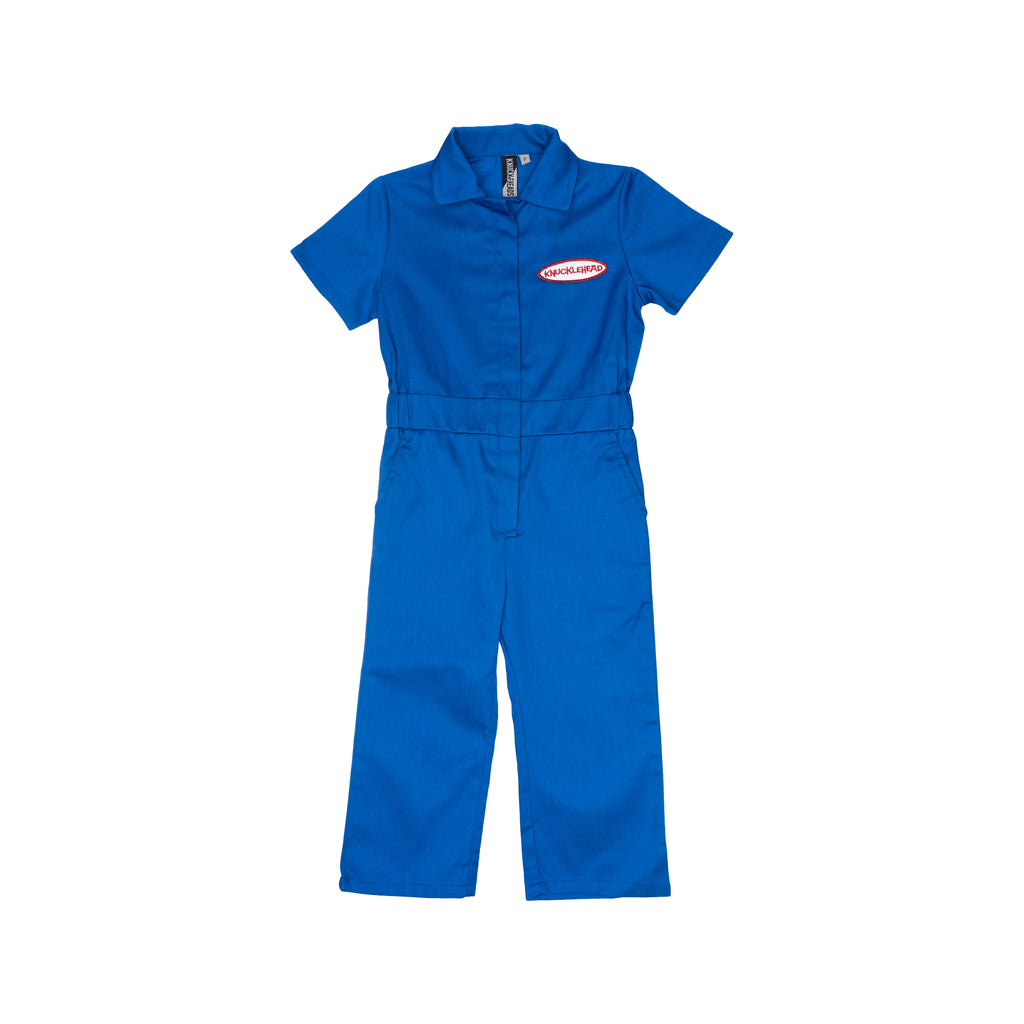 Knuckleheads Kids Coverall for Girls, Mechanic Halloween Jumpsuit Costume Baby Outfit