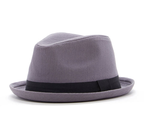 Born to Love Straw Fedora with Brown Stripe Detail