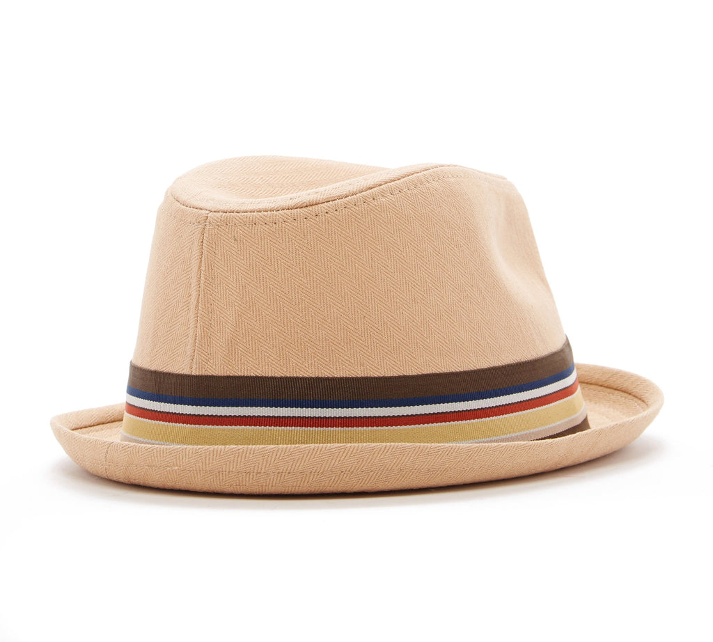 Knuckleheads Tan Fedora with Stripe Band