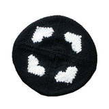 Black with White Hearts Beret