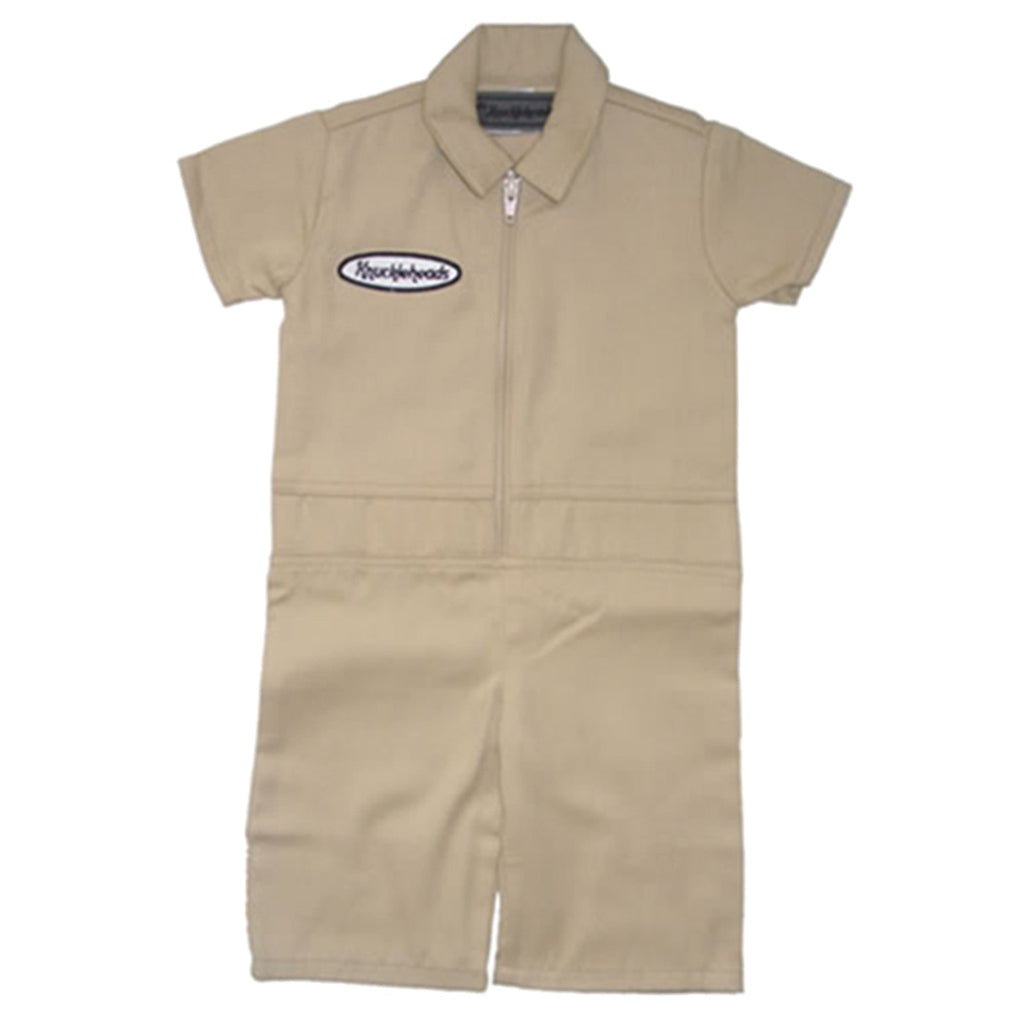 Knuckleheads - Infant and Baby Boy Grease Monkey Tan Coveralls