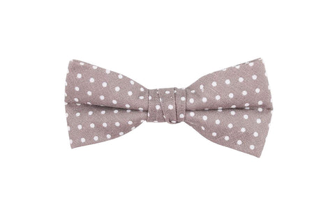 Beige Polka Dotted Birthday Bow Tie